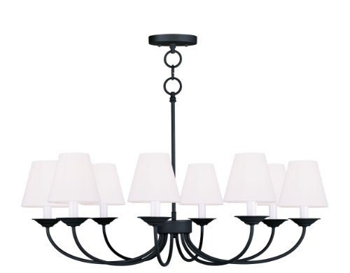 Livex Mendham Convertible Chain Hang Chandelier Ceiling Mount in Black