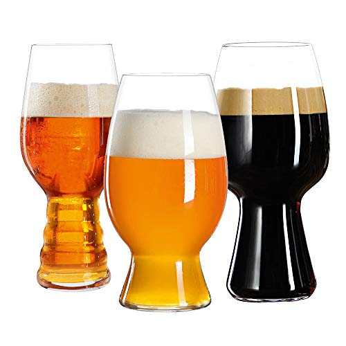 Spiegelau 4991693 Beer Glasses Bar Kit Craft Tasting Mugs, Set of 3, Clear
