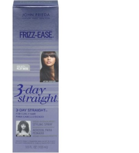 John Frieda Frizz Ease 3-Day Straight Styling Spray, 3.5 Fluid Ounce (Pack of 3)