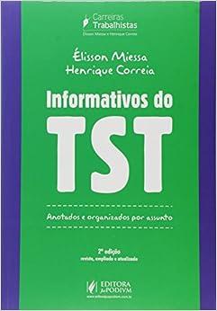 Book Informativos do Tst: Anotados e Organizados por Assunto