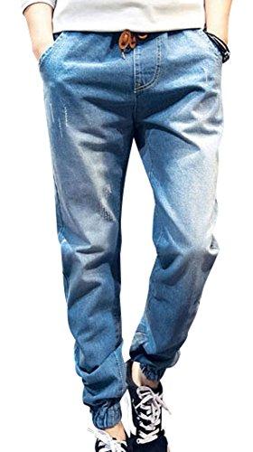 (アルファーフープ) α-HOOP メンズ デニム カラー スウェット パンツ 10分丈 ボトムス M ~ XXL DME5