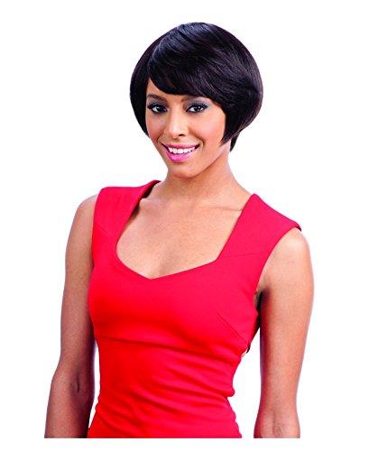 SAGA 100% Remy Human Hair Lace Front Wig - CAPLI (1B - Off Blk)