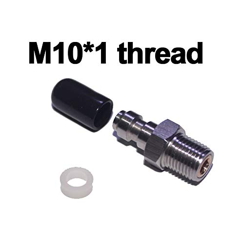 Paintball Accessories | Paintball Airsoft Air Gun PCP 8MM Male Quick Head Connection Check Valve One Way Foster Stainless Steel Fill Nipple Kit | by TOTAMEND (Airsoft M8 Rifle)