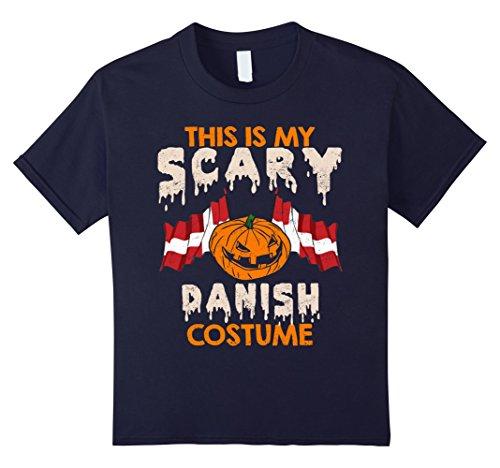 Kids This Is My Scary Danish Costume Halloween T-shirts 12 Navy - Danish Halloween Costumes