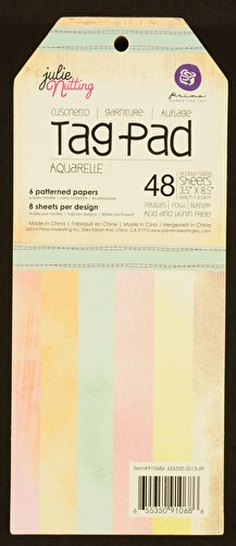 Prima Marketing Mixed Media Doll Tag Pad 3.5 by 8-Inch 48/Pack-Aquarelle (Doll Tag)
