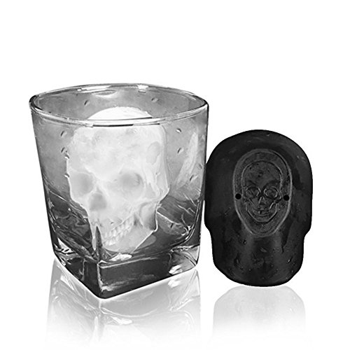 BeautyShe Round Shape Popsicle Molds with Lid - Ice Pop Molds Maker,BPA Fre Ice Pop Makers-Garden Fresh Fruitsicle Frozen Pop Tray (Skull Ice Cube) from BeautyShe