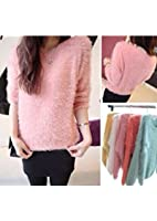 Fashion Women's Ladies Crew Neck Pullover Jumper Casual Loose Long Sweater Size-s
