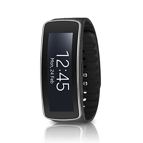 Samsung Galaxy Gear Fit SM-R350 Smartwatch Fitness Tracker - Charcoal Black