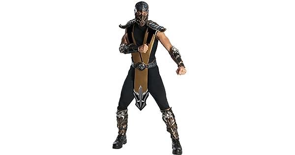 Amazon.com: Escorpión mortal kombat adulto disfraz Ninja de ...