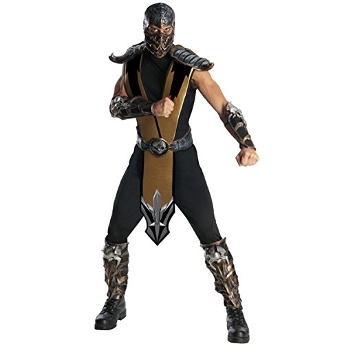 Scorpion Ninja Costumes (Scorpion Mortal Kombat Adult Costume)