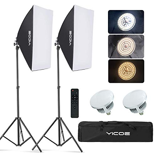 YICOE Softbox Lighting Kit Photography Photo Studio Equipment Continuous Lighting