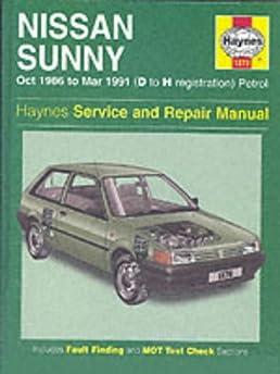 nissan sunny 1986 91 service and repair manual haynes service and rh amazon com 1989 Nissan Sunny Interior Nissan Sunny 1989