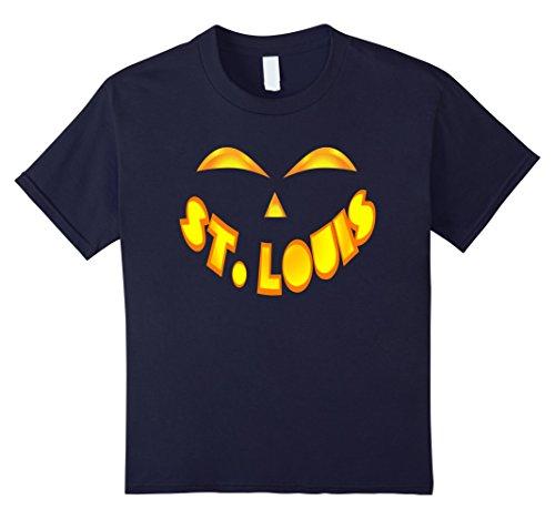 Kids St. Louis Jack O' Lantern Pumpkin Face Halloween Shirt 8 (St Louis Halloween Costumes)