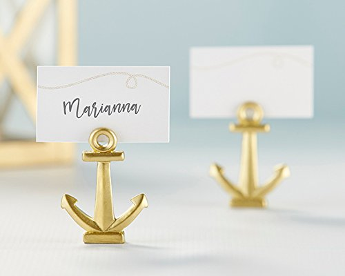 84 Gold Nautical Anchor Place Card Holders by Kate Aspen