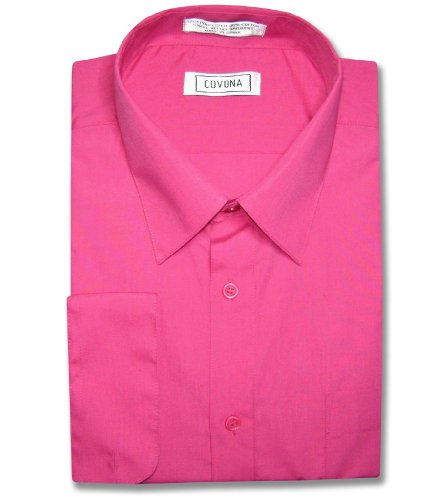 Hot Pink Dress Shirt - 1