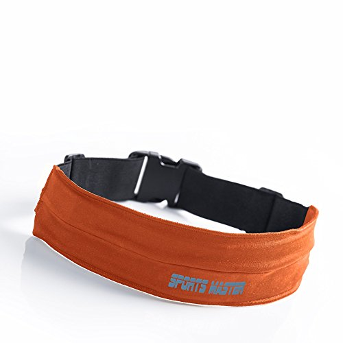 Special Price - Premium Running Belt & Fitness Workout Belt - Adjustable Size - Fits Any Smartphone: Android or iPhone 6 / 6 Plus- Great for Biking, Hiking & More- FREE BONUS Carrying Bag With Zipper
