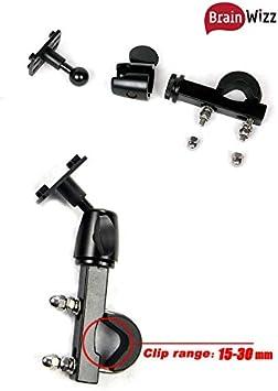 BRAINWIZZ/® Supporto di Fissaggio per Moto//Scooter//Bici con Custodia Impermeabile per iPhone e Smartphone 5//5S//4//4S Dimensioni equivalenti