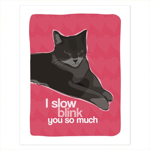 Cat Art - I Slow Blink You So Much - Pop Doggie Cat Poster