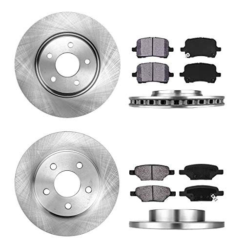 FRONT 295.8 mm + REAR 270 mm Premium OE 5 Lug [4] Rotors + [8] Metallic Brake Pads