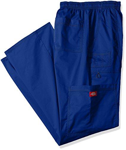 Dickies Mens Big And Tall Genflex Contrast Drawstring Cargo Scrub Pant  Galaxy Blue  Xx Large