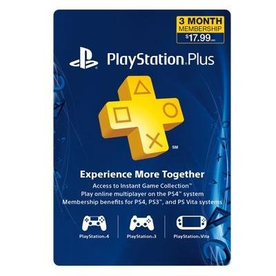 Sony PlayStation Plus - 3 Month Membership