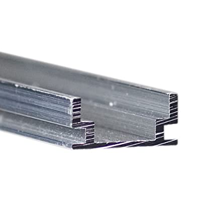 Klus B1889 - 39.4 in. Non-Anodized Aluminum Mounting Channel - HR - ALU Profile - For LED Tape Light