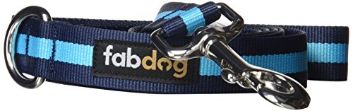 fabdog Classic Stripe Dog Lead, Eco-Friendly Dog Leash (Blue, Large)