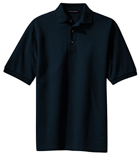 Knit Port Shirt Authority (Port Authority Men's Big And Tall Knit Polo Shirt_Classic Navy_Large Tall)