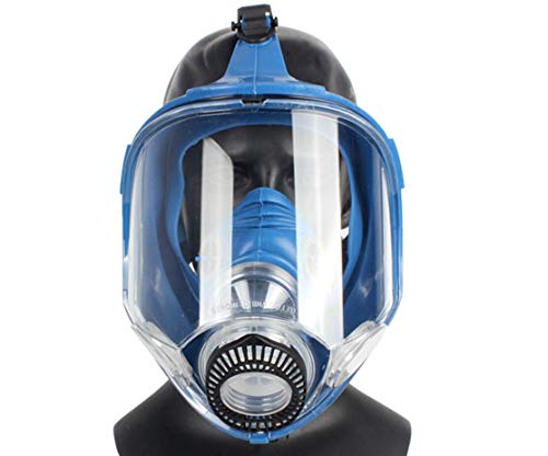 Induschoice Broad View Organic Vapor Full Face Respirator Mask Gas Mask Paint Pesticide Chemical Formaldehyde Anti Virus Respiratory Protection(Respirator +1 Pair Cartridges) by Induschoice (Image #3)