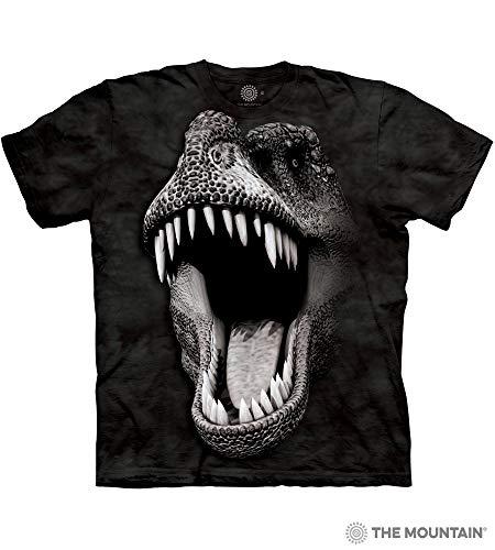 The Mountain Adult Unisex T-Shirt - Big Face Glow Rex L ()