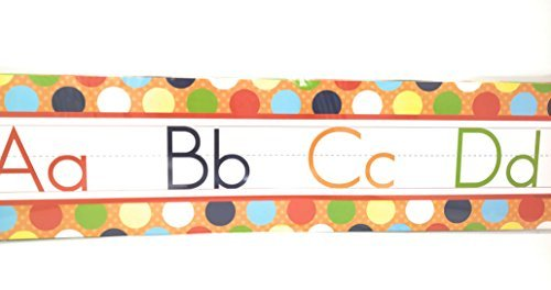 Teaching Tree Manuscript Alphabet Bulletin Back to School Board Set Creative Strips School Office Resources Scholastic Teacher Teacher's Bulletin Trim Wall Border Decal Classroom Decoration Set C