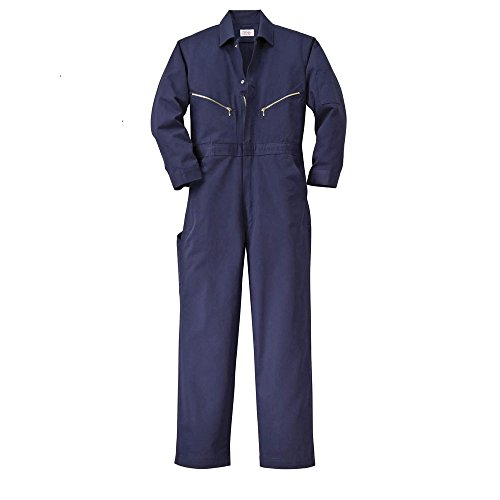 Classic Coverall (Walls Work Men's Big-Tall Long Sleeve Twill Coverall, Navy, 54/Tall)