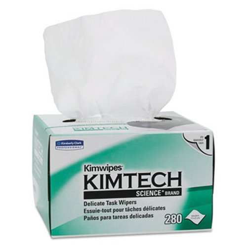Kimwipes, Delicate Task Wipers, 1-Ply, 4 2/5 X 8 2/5, 280/box,16800/ct by Kimberly-Clark Professional