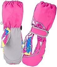 Azarxis Children's Winter Waterproof Ski Mittens Kids Warm Snow Gloves for 3-12 Years Old Boys &am