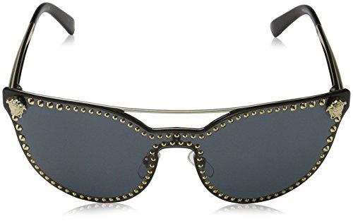 9e6748e3448 Amazon.com  Versace Womens Sunglasses Gold Grey Metal - Non-Polarized - 45mm   Versace  Clothing