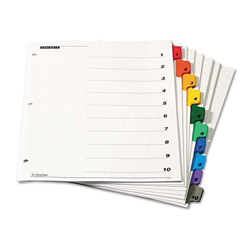 - Cardinal 61028 Traditional OneStep Index System, 10-Tab, 1-10, Letter, Multicolor, 6 Sets