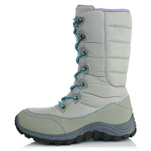 Warm Ankle Boots Hiking Mid Outdoor DailyShoes Snow Lt Women's Calf Grey Yy8wt85q