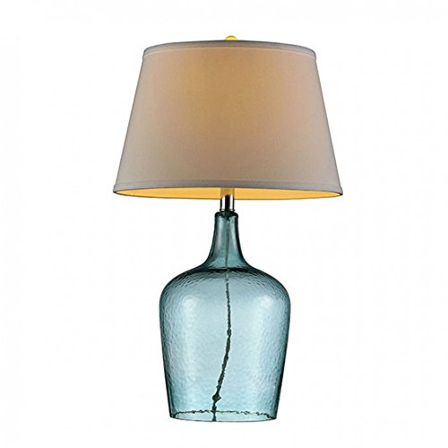 "Furniture of America L9708 Alex 27"" Translucent Blue Table Lamp Miscellaneous-Others"