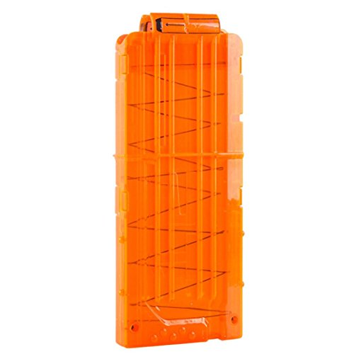Nesee Soft Bullet Clips Cartridge Gun Toy Clips for Storing Nerf N-strike Elite Series Toy Guns Bullets Ammo Cartridge Dart Organizer Case (Orange)