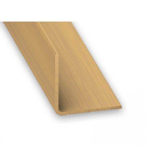 PVC Equal Angle Oak Effect Corner Trim - 30mm x 1.5mm x 1m by Hardware Warehouse Ltd 1.5 Mm Corner