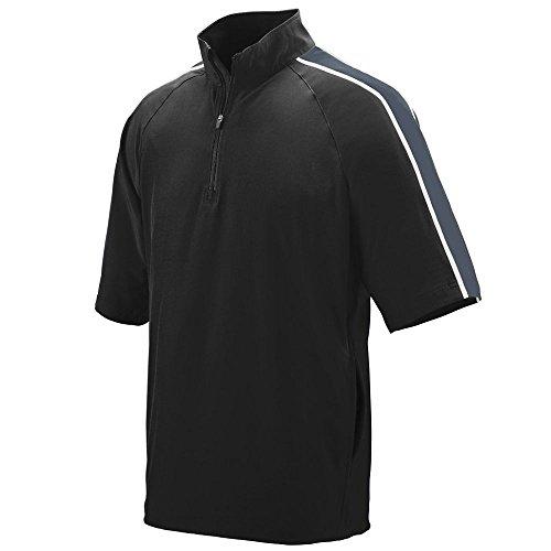 Augusta Sportswear Men's Quantum Short Sleeve Windshirt 2XL Black/Graphite/White ()