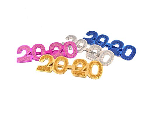 4pcs 2020 Novelty Eyeglasses Party Glasses Funny Sunglasses for Festival Party Favors ()