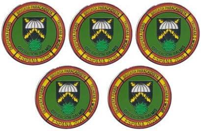 Gemelolandia Pack de 5 Pins de Solapa Operación Balmis 2020 Operación Militar España 25 mm Broche Pin de traje Unidades Militares Española: Amazon.es: Ropa y accesorios