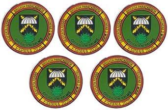 Gemelolandia   Pack de 5 Pins de Solapa Operación Balmis 2020 Operación Militar España 25 mm Broche Pin de traje Unidades Militares Española