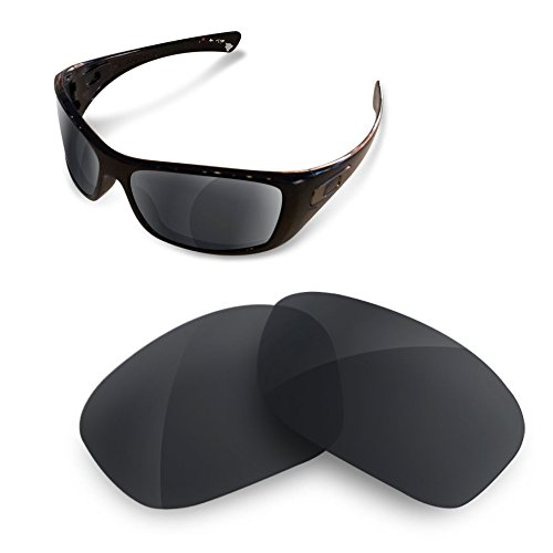 Sunglasses Restorer Lentes Polarizadas de Recambio Combo Black Iridium + Titanium para Oakley Hijinx