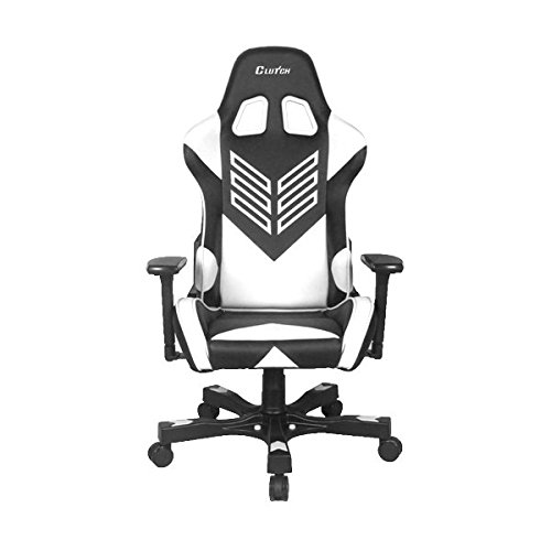 """4186KkXwxzL - Crank Series """"Onylight Edition"""" World's Best Gaming Chair (Black/White) Racing Bucket Seat Gaming Chairs Computer Chair eSports Chair Executive Office Chair w/Lumbar Support Pillows"""