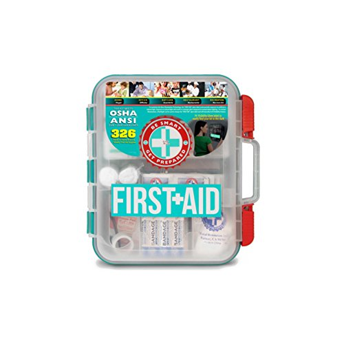Price comparison product image First Aid Kit Hard Red Case 326 Pieces Exceeds OSHA and ANSI Guidelines