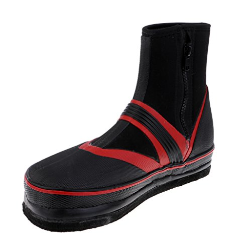 Baoblaze Felt & Nails Sole Breathable Fishing Wading Boots, Outdoor Anti-slip Spikes Shoes