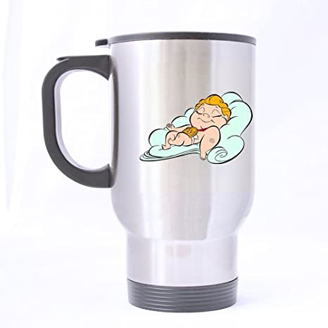 Taza de fantástico Desenhos para Colorir Hercules personalizada plata taza de viaje botella tazas de café oficina casa taza 14 oz dos lados impresos: ...