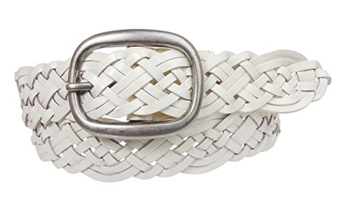 Womens Braided Woven Genuine Leather Belt Size: M/L - 41 END-TO-END Color: (Leather Woven Studded Belt)